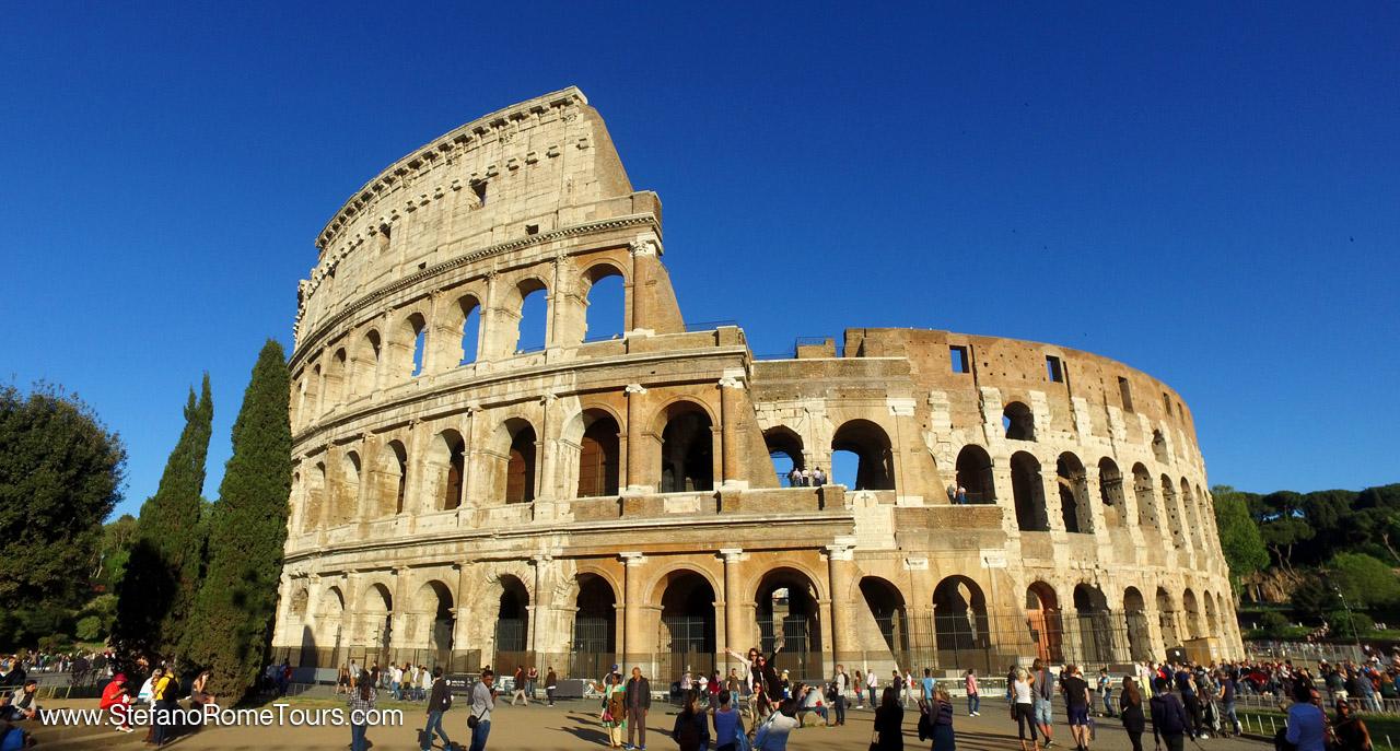Colosseum Rome pre cruise tour to Civitavecchia Transfer
